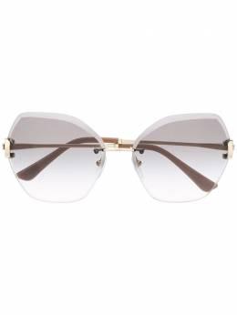Bvlgari солнцезащитные очки в квадратной оправе с затемненными линзами 0BV6105B