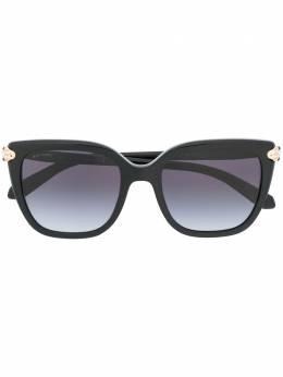 Bvlgari солнцезащитные очки в квадратной оправе с затемненными линзами 0BV8207B