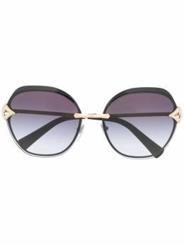 Bvlgari солнцезащитные очки в квадратной оправе 0BV6111B