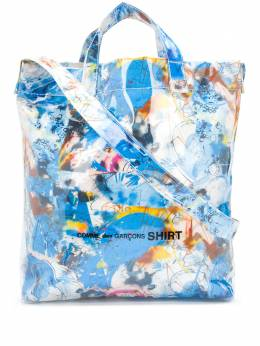 Comme Des Garcons Shirt сумка-тоут с абстрактным принтом W28611