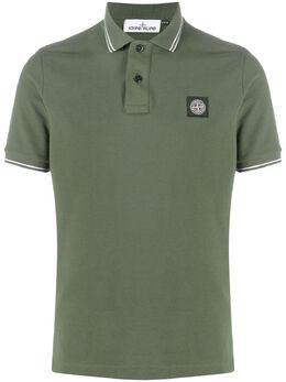 Stone Island рубашка поло с короткими рукавами и нашивкой-логотипом 731522S18