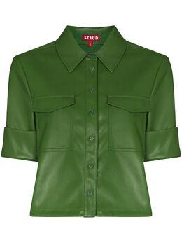 Staud рубашка из искусственной кожи 2593246