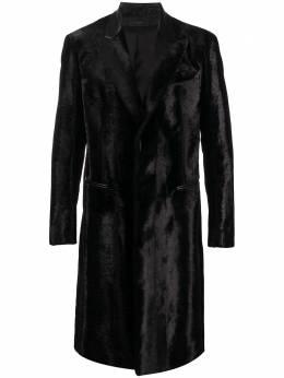 Amiri однобортное пальто из овчины W0M04334EA