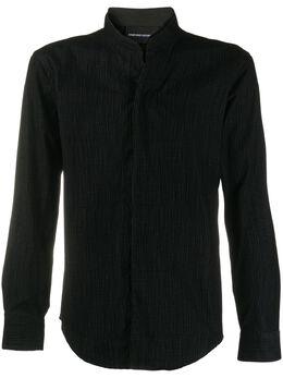 Emporio Armani фактурная рубашка с высоким воротником 91SS1T910F7