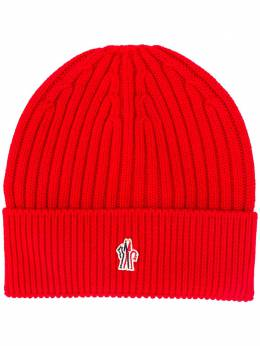 Moncler Grenoble embroidered logo ribbed beanie F20973B7000004761