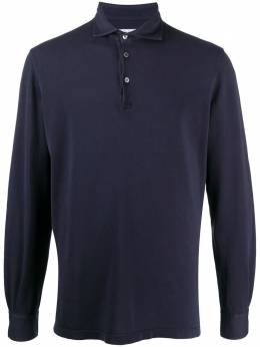 Fedeli рубашка поло из ткани пике с длинными рукавами 2UIF0220R