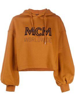 MCM укороченное худи с кулиской и логотипом MFAASMM04
