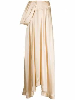 Simone Rocha юбка асимметричного кроя с драпировкой 30000318CREAM