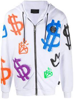 Philipp Plein декорированная куртка с капюшоном F20CMJB2048PJO002N