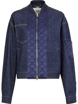 Fendi джинсовая куртка со стегаными вставками FLF619AD9C
