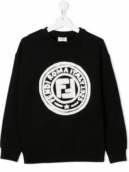 Fendi Kids толстовка с логотипом JUH0195V0