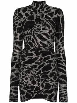 Alexandre Vauthier коктейльное платье с запахом и блестками 204DR1366B1029B202WHITE