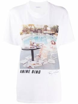 Anine Bing футболка с фотопринтом A082140142