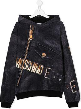 Moschino Kids худи с графичным принтом HUF04DLDA16