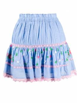 Loveshackfancy юбка мини Jennings с вышивкой LS267613