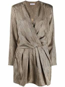 Anine Bing полосатое платье с запахом A021133272