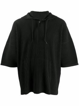 Homme Plisse Issey Miyake плиссированная футболка с капюшоном HP08JK101