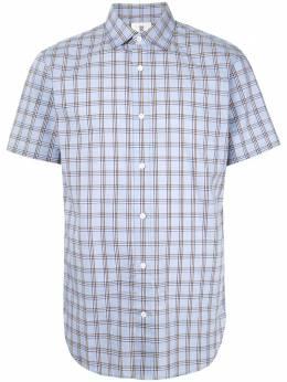 Kent & Curwen клетчатая рубашка с короткими рукавами K3566TM11055