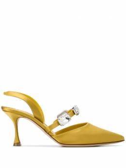 Manolo Blahnik декорированные туфли с ремешком на пятке 2200424