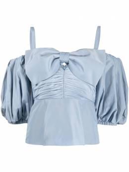 Self-Portrait блузка с бантом AW20015TRASOSTEELBLUE