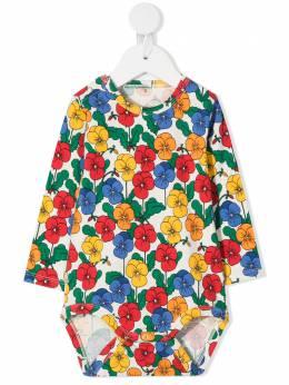 Mini Rodini боди с цветочным принтом 2074013500