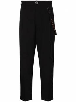 Song For The Mute зауженные брюки со складками 202MPT037WOGBBLK