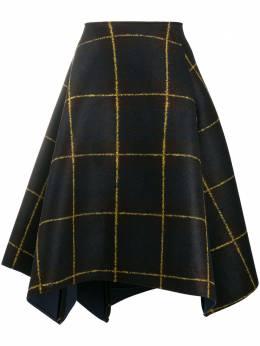 Stefano Mortari клетчатая юбка асимметричного кроя 19848