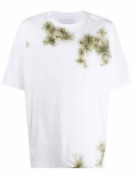 Fumito Ganryu футболка с контрастным принтом FU4CU10