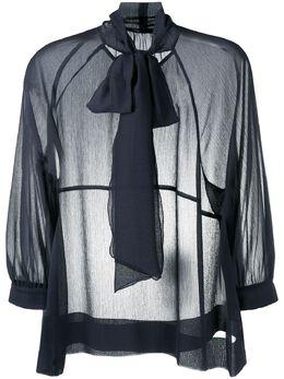 Luisa Cerano шифоновая блузка с бантом 22825221750