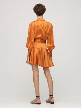 Короткое Платье Из Атласа Zimmermann 72IGF9020-TUFOR081