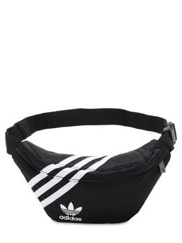 Сумка На Пояс Из Нейлона С Логотипом Adidas Originals 72I0N6078-QkxBQ0s1