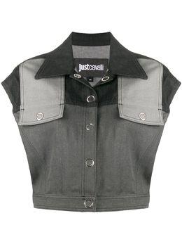 Just Cavalli укороченный джинсовый жилет S02FB0042N31830