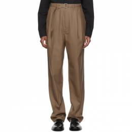 Lemaire Brown Belted Pleats Trousers M 203 PA151 LF414