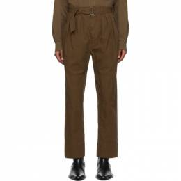 Lemaire Brown 4 Pleats Trousers X 203 PA153 LF509