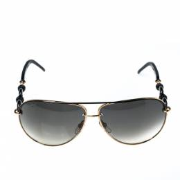Gucci Gold Tone/ Grey Gradient GG 4225/S Aviator Sunglasses 322916