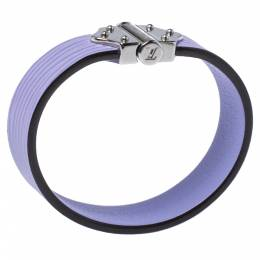 Louis Vuitton Purple Epi Leather Spirit Bracelet Size 17 322674