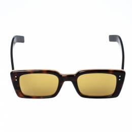 Gucci Havana Brown/ Yellow GG0539S Rectangle Sunglasses 323086