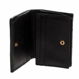 Gucci Black Matelasse Leather GG Marmont Card Case 322991