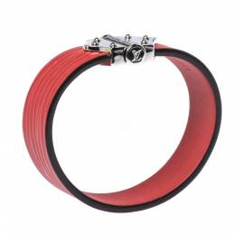 Louis Vuitton Red Epi Leather Spirit Bracelet 17 322799
