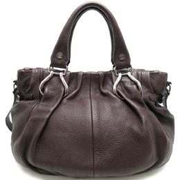 Celine Dark Brown Leather Pillow Shoulder Bag 317901