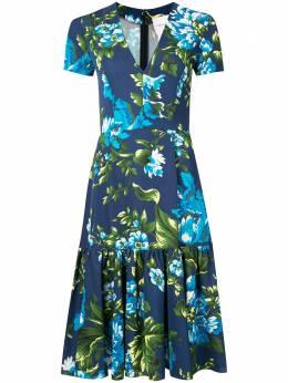Carolina Herrera платье миди с цветочным принтом F2011N507OFA