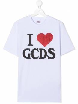 GCDS Kids футболка с графичным принтом 026179