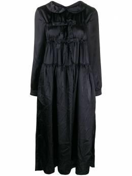 Comme Des Garcons Girl атласное платье миди с бантом NFO00605113