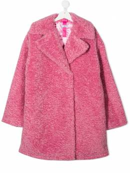 Monnalisa bouclé long sleeve coat 176107NR6025