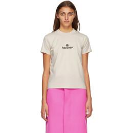Balenciaga Beige Sponsor Logo T-Shirt 612964-TJVD9