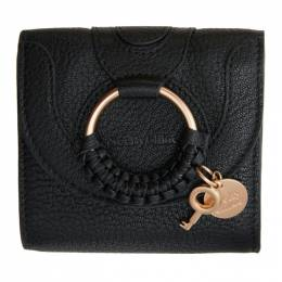 See By Chloe Black Hana Square Wallet CHS20AP923305