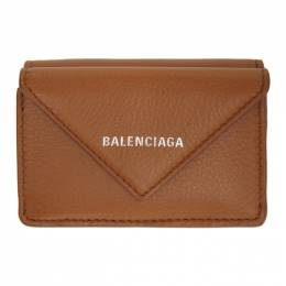 Balenciaga Brown Mini Envelope Papier Wallet 391446-DLQ0N