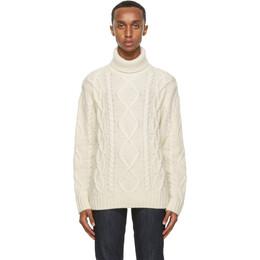 Nudie Jeans White Didrik Turtleneck 150454