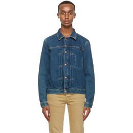 Nudie Jeans Blue Someplace Vinny Denim Jacket 160698