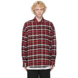 Juun.J Red Flannel Checkered Shirt JC0964P02